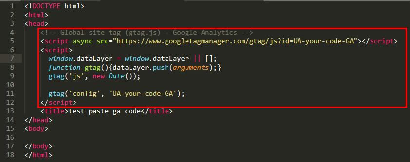 ga code - สมัคร google analytics